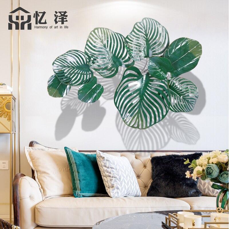 Гостиная железные настенные украшения креативное моделирование голубое растение кулон садовые подвески для самодеятельного творчества