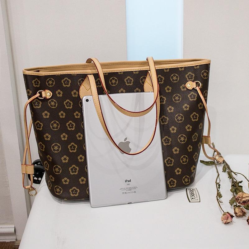 Image 5 - 2019 Fashion Luxury Leather shopping Handbags Handbag Women's Bag Top Handle Bags Tote High Quality Luxury Shoulder Bags-in Top-Handle Bags from Luggage & Bags