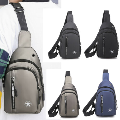 Men's Chest Sling Pack Satchel Shoulder Bag Waterproof USB Charge Small Day Pack Waist Bag Female Belt New Brand Waist Packs
