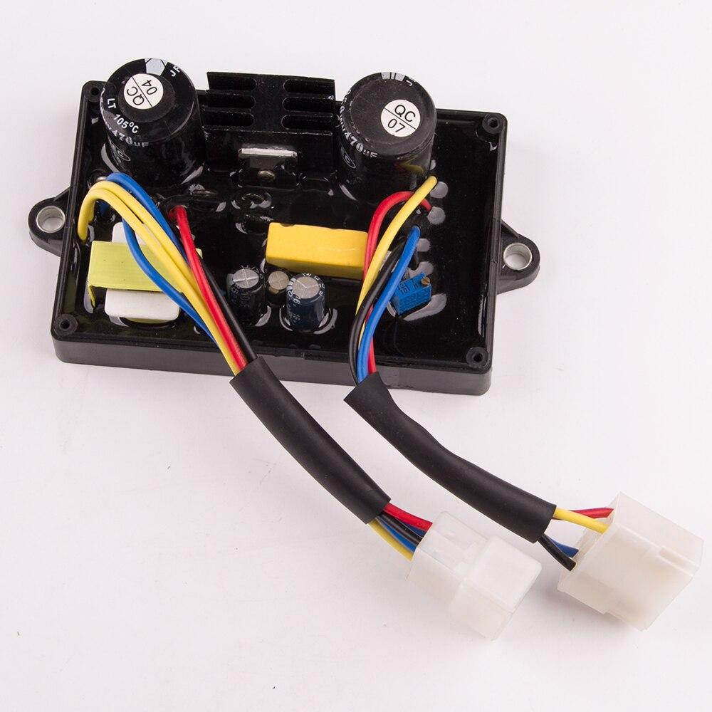Общие 5kw сварочный генератор AVR сварочный аппарат стабилизатор автоматический регулятор напряжения однофазный HJ-5K25DH-6 провода 10
