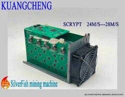 Consegna veloce SilverFish 25 m/s Litecoin Minatore Scrypt 420 watt meglio di ASIC minatore Zeus Antminer L3 +