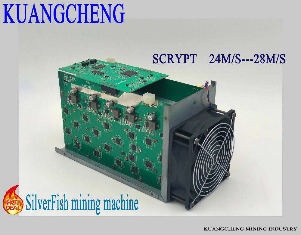 Fast Delivery SilverFish 25m/s Litecoin Miner Scrypt  420 Watts Better Than ASIC Miner Zeus Antminer L3 +