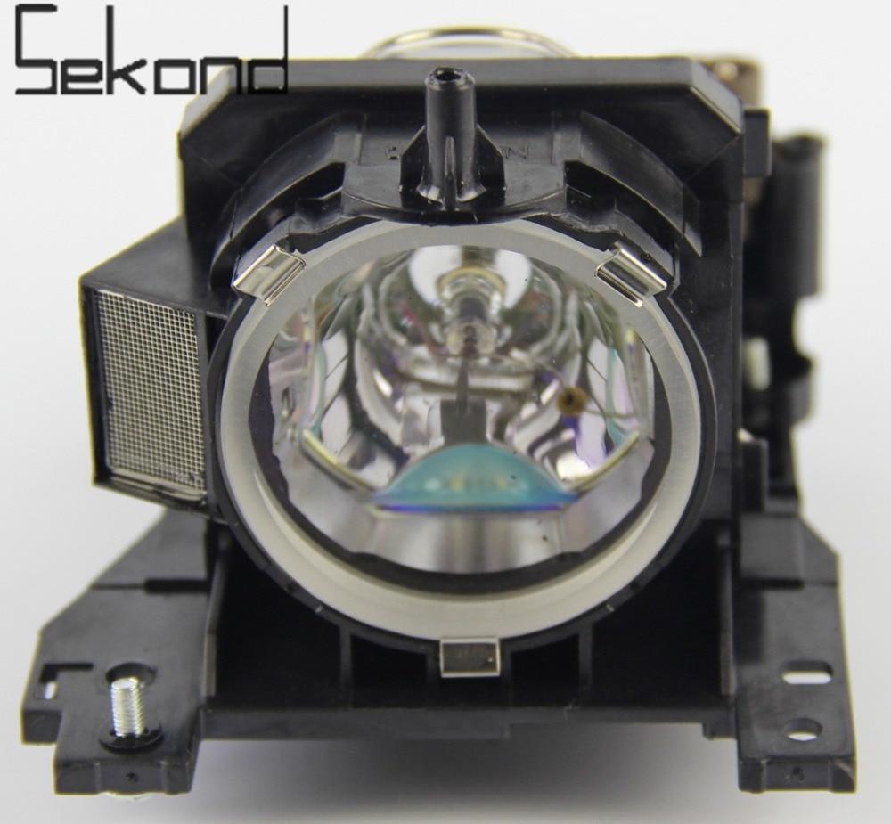 SEKOND DT00841 Projector Lamp with Housing For Hitachi ED-X32 CP-X300WF CP-X200 CP-X30 HCP-80X HCP-880X ED-X32 картридж kyocera tk 5140c для p6130cdn m6x30cdn голубой 5000стр