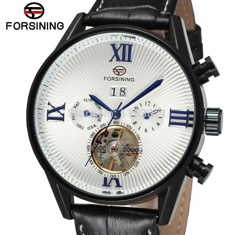 FSG16556M3B3 Fashion brand Automatic self-wind dress luxury men watch with black genuine leather strap gift box free shipping no name скоба предохранителя мр 43е