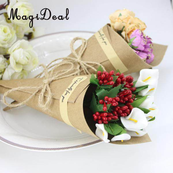 Online shop magideal 50 pcslot flower packaging paper kraft paper magideal 50 pcslot flower packaging paper kraft paper cones bouquet candy boxes birhtday wedding mightylinksfo