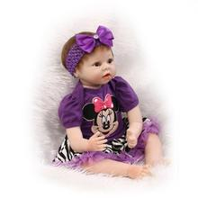 55cm silicone reborn dolls toys for girls 22inch vinyl baby born american girl doll silicone dolls reborn toys for children