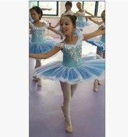 Girl Classic Short Sleeve Ballet Dance Dress Baby Girl Performance Costumes Children S Ballet Tutu Dress
