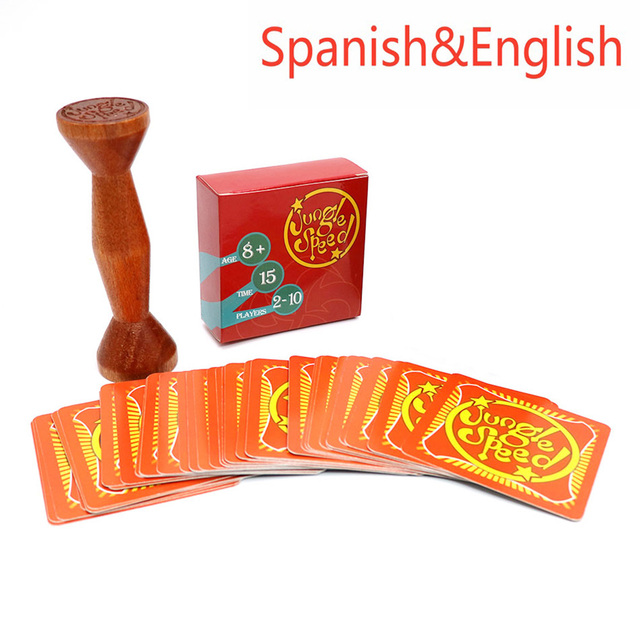 english spanish jungle speed board game good package card game play