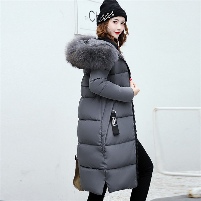 Women Mid-Long Korean Fur Thick Cotton Padded   Parkas   2019 Winter New Fashion Casual Female Jackets Office Lady Plus Size Coats