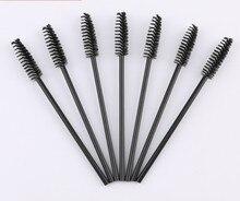 100pcs/lot  plastic disposable eyelash brush / eyelash curl / eyebrow comb / Makeup Brush Cosmetic tool wholesale