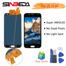 Sineda Super Amoled For SAMSUNG J5 2017 J530 LCD for Samsung J530 J5 2017 Display Screen Touch Digitizer Assembly(China)