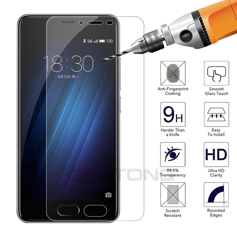 Безопасная защита экрана для Meizu S6 U10 U20 M6 M5 Note M5C M3 S mini 15 16th 16 16X Pro 6 7 Plus V8 закаленное защитное стекло