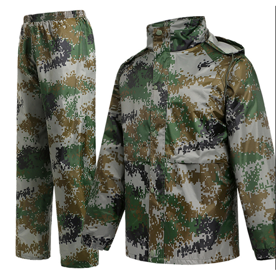 Long Waterproof Boys Raincoat Men Camouflage Hiking Jacket Women Jackets Rain Suit Coat Man Motorcycle Raincoats Hooded RBY007 in Raincoats from Home Garden