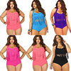2018 Summer Plus Size Bikini Set For Women Tassel Sexy Halter Top Push Up Bikini Large Size Swimwear XXL 3XL Beach Bathing Suit 1