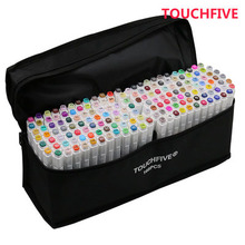 TouchFIVE Marker Pens 60/72/168 Colors Animation Sketch Markers Set Drawing Marker Pen for Artist Manga Marker Brush Supplies