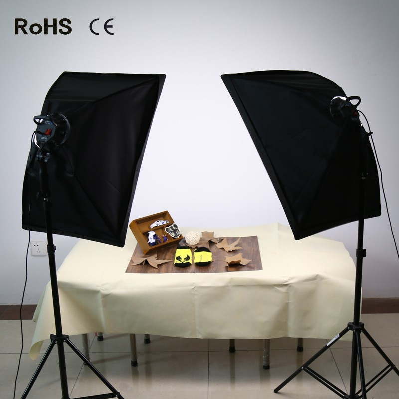 Soft Box Photography Lighting Kit Continuous Lighting System Photo Studio Equipment Photo Model Portraits Shooting Box&LED bulbs puluz 40 40cm 16light photo studio box mini photo studio photograghy softbox led photo lighting studio shooting tent box kit