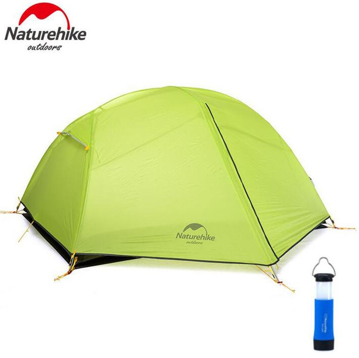 NatureHike Lightweight Tent Camping Outdoor 2 Person Ultralight Tents Equipment Waterproof Rainproof Double-Layer tents waterproof tourist tents 2 person outdoor camping equipment double layer dome aluminum pole camping tent with snow skirt