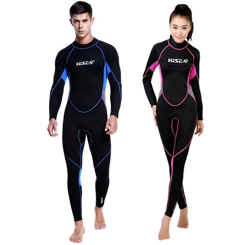 Combinaison de plongée sous-marine 3mm costumes hommes femmes néoprène natation surf combinaison de maillot de bain équipement combinaison de plongée complète du corps