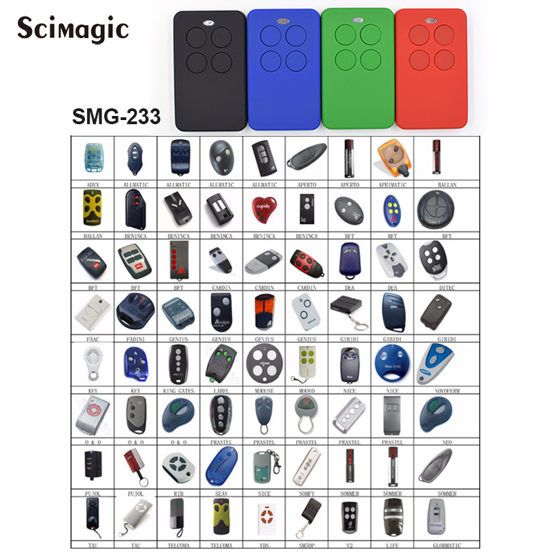 Multiple frequencies 280-868mhz gate garage Remote Control Clone NICE FAAC SOMFY HORMANN MARANTEC CAME SOMMER DOORHAN SOMFY BFT