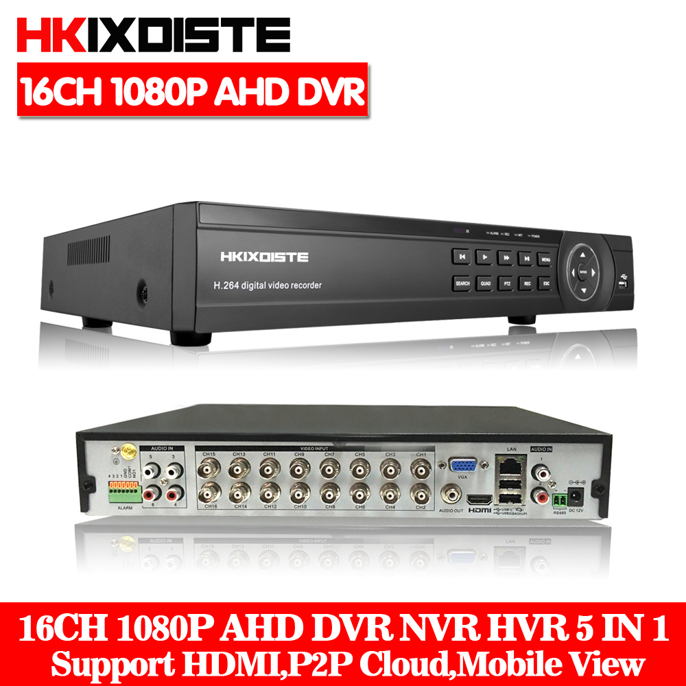 Hot 16CH AHD DVR 1080P 1080N AHD-N H CCTV Recorder Camera Onvif Network 8 Channel IP NVR 1080P 6CH Audio Input Multi-language 1080n avr nvr dvr hvr 16 channel support connection ahd cctv ip camera 1080p 16ch jienu