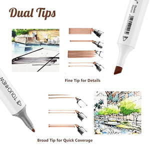 Image 4 - Artist Permanent Sketch Anime Skin Marker Pen Set for Skin Tone Pens TouchNew 24 Color Dual Tip Twin Alcohol Based Marker Set