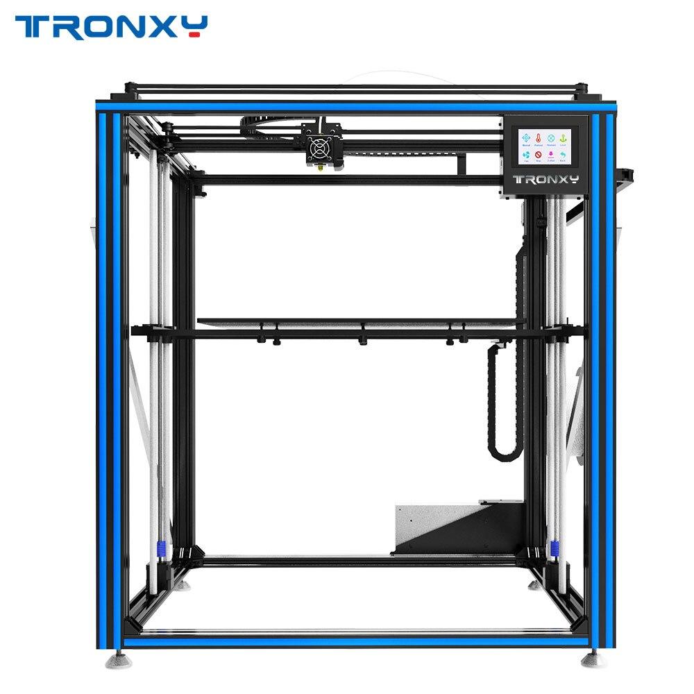 Cyclope Tronxy X5ST-500-2E 3D Imprimante 2 Dans 1 Out Double Extrudeuse Moteur DIY Kits Plus Grande Chaleur lit