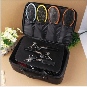 Image 2 - Professional Top Grade PU Leather Barber Hairdressing Electric Hair scissors bag Hair Clipper tool case Can Hold Hair Dryer bags