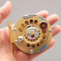 Anmuka 1 pc Top Quality Fishing Reel Eksportowane do Japonii Glod kolor Fly Fly Fishing Reel 3/4 #122g Średnica koła 66mm