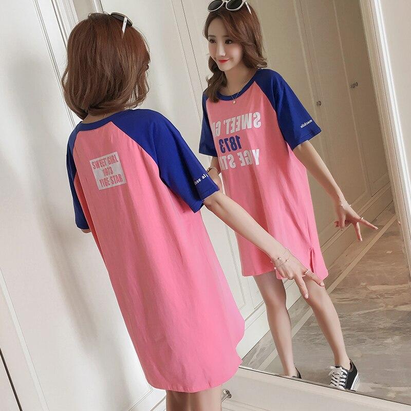 165  Maternity dress 2018 summer  version pure cotton loose comfortable casual t-shirt dress