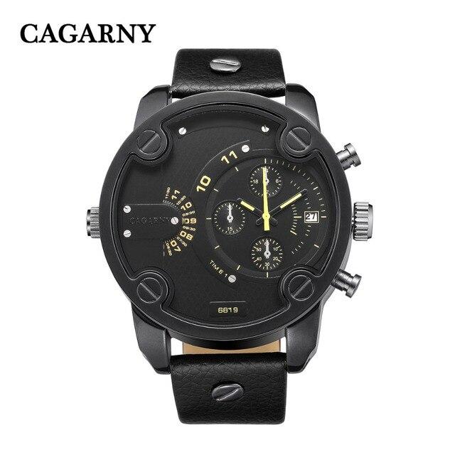 8c32b621a834 2017 Nueva CAGARNY Marca de Lujo de Los Hombres Del Ejército Militar  Deportes Relojes de Los