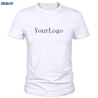 GILDAN Your OWN Design Brand Logo Picture White Custom T Shirt Plus Size T Shirt Men