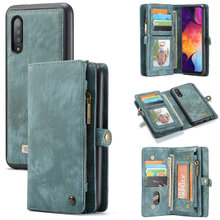 CaseMe Original Wallet Phone Case For Samsung Galaxy A50 Luxury 2 in 1 Multi function Detachable Leather For Samsung A 50 Cases