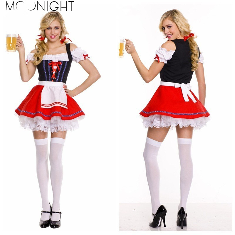 MOONIGHT Halloween German Beer Girl Costume Fraulein Dirndl Fancy Dress Oktoberfest Costume M XL 2XL 3XL  sc 1 st  Google Sites & ?MOONIGHT Halloween German Beer Girl Costume Fraulein Dirndl Fancy ...