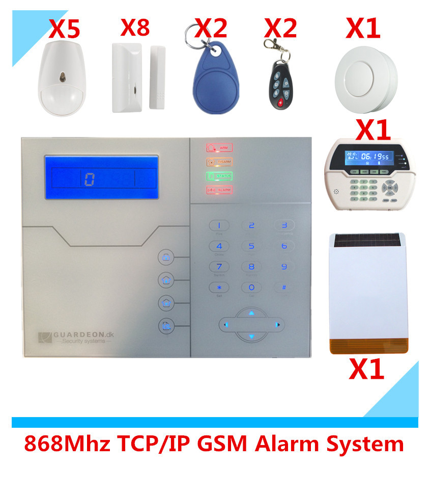 Meian French Voice Prompt Wireless GSM Alarm System TCP IP Alarm Protection Home Security Alarm System With External Solar Horn