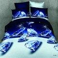 Бесплатная доставка домашний текстиль Цветок 3d роза комплект постельных принадлежностей, Домашний текстиль 4 шт. семья набор, Включает В Себя: кровать лист, пододеяльник и наволочки