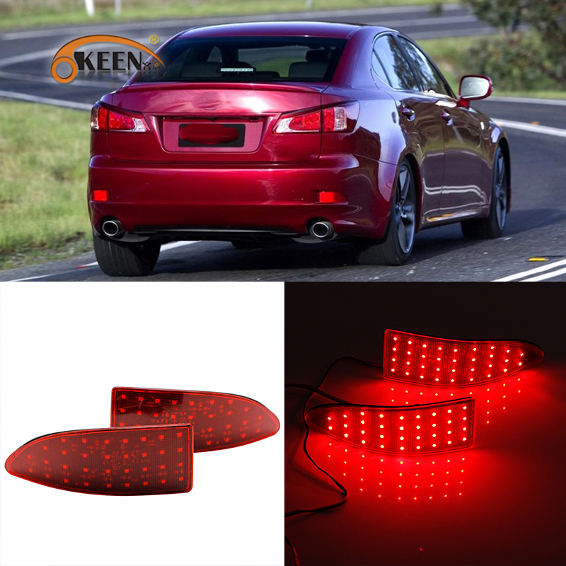 OKEEN LED Rear Bumper Reflectors Lights For Lexus IS250 IS300 IS350 GSE20 2006 2013 Tail Light