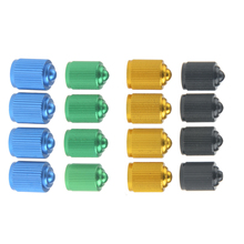 Wanyifa 4Pcs Aluminum Alloy MTB Road Bicycle Gas Nozzle American Valve Cap Tyre Dust of Wheel Tire Covered Protector