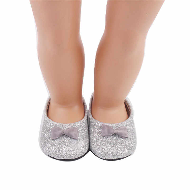 Baby Doll Cool Fashion Doll Shoes Bowknot Dress Shoe For 18 Inch Our  Generation American Doll 77009085a7a9