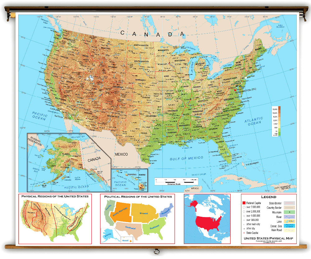 North America Physical Map Physical Map Of North America Maps Of Dry Erase Map Of