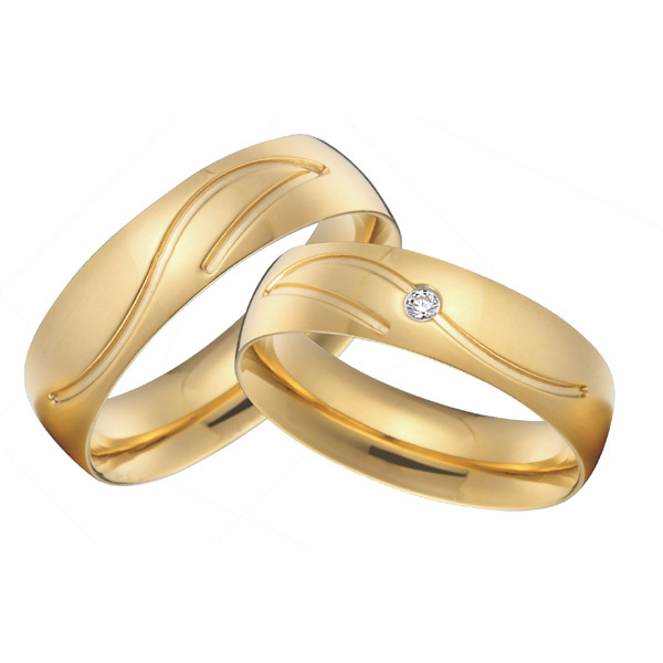 custom titanium jewelry high polishing vintage wedding bands rings sets gold color alliance