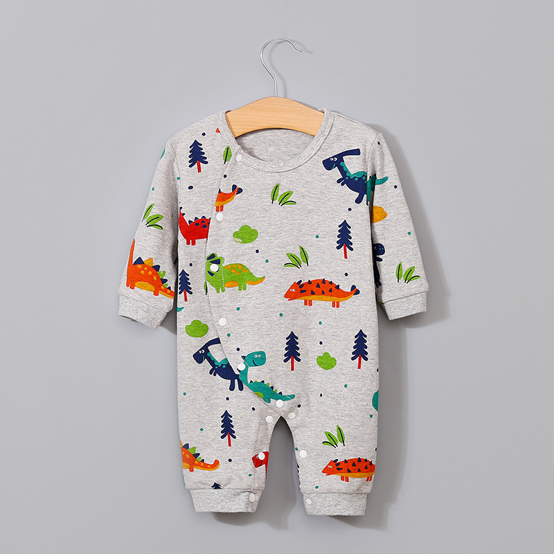 Spring Baby Boy Girl Clothing Cotton Long Sleeve Dinosaur Print Baby   Romper   Infantil Babies Jumpsuit Cute Animals Girls Costume