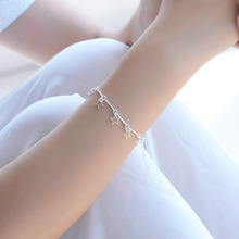 TJP Fashion Star Silver Bracelets For Women Party Jewelry Cute Lady Female 925 Anklets Girl Wedding Birthday Accessories