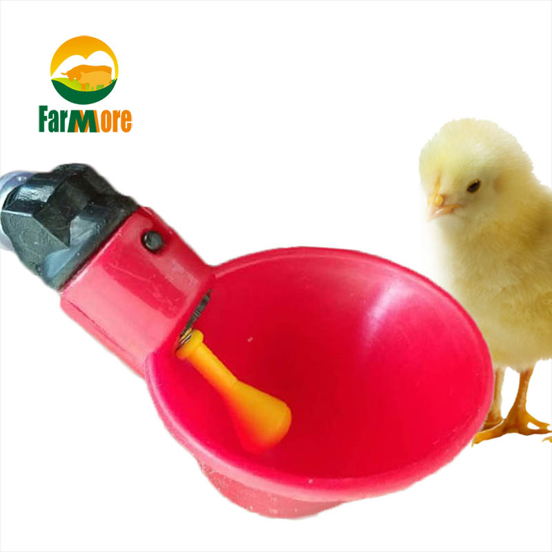 10Pcs Set Chicken Waterer Poultry Hen Quail Water Cups Yellow Nipple Waterer Bowl Automatic Chicken Drinker Farm Animal Supplies in Feeding Watering Supplies from Home Garden