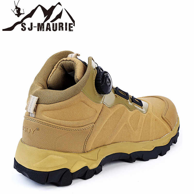 SJ-MAURIE 屋外スポーツ男性ハイキング靴 Millitary 戦術的な靴ノンスリップ通気性防水ハイキングブーツ狩猟靴