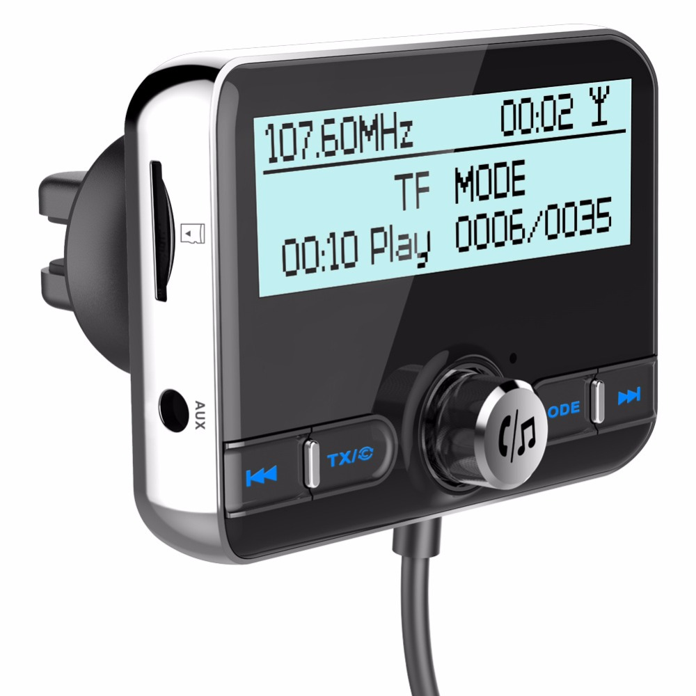 Adaptateur universel DAB + Radio récepteur FM Plug-and-Play DAB avec chargeur USB d'antenne 5 V/2.1A QC3.0 Version BT4.2 + EDR