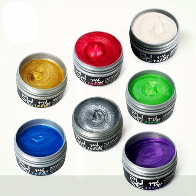 2018 Disposable Hair Color Cream Universal Women Men Styling Pomade