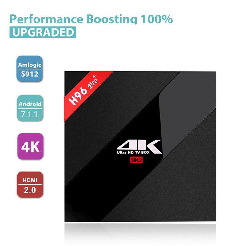 H96 PRO Plus Android 7.1 décodeur IPTV serveur pour les chaînes de sport TV Box coupe du monde Amlogic S912 WIFI 2.4 joueur 4 K 60 HZ