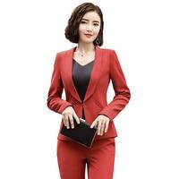 Fmasuth Office 2 Pieces Pants Suit For Women Blazer+Long Trousers Business Lady Pant Blazer Suit 111HEN1325S01
