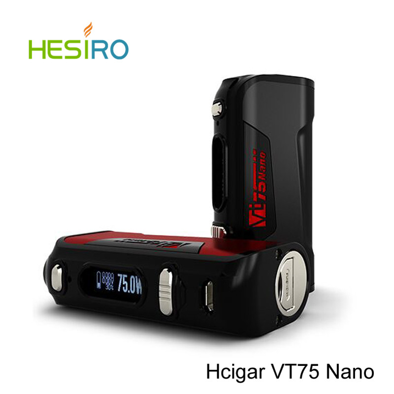 ФОТО Hot selling Original Hcigar VT75 Nano Box Mod Vape 75W Temp Control LED fit for Evolv DNA75 Chip Electronic Cigarette Vaproizer