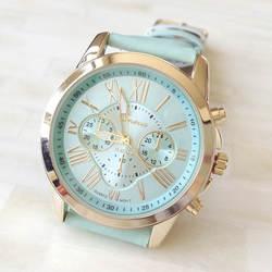 Прямая поставка Лидер продаж дешевые женские часы GENEVA модный бренд платье дамы часы кожа для женщин Аналоговые кварцевые наручные часы